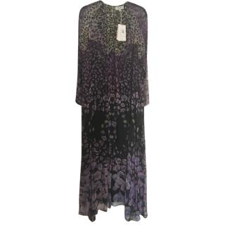 Temperley London Long Orchid Print Chiffon Gown