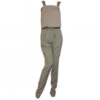 Brunello Cucinelli  cotton & silk stretch jumpsuit