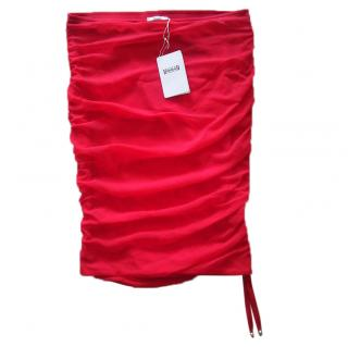 Wolford red ruched skirt