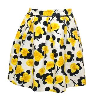 Milly Yellow Floral Skirt