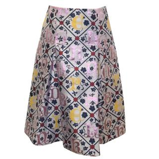 Mary Katrantzou digital print skirt