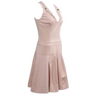 Anna Molinari Fitted V-Neck Dress