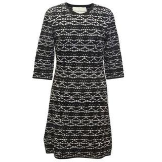 Mary Katrantzou Black Dress with White Pattern