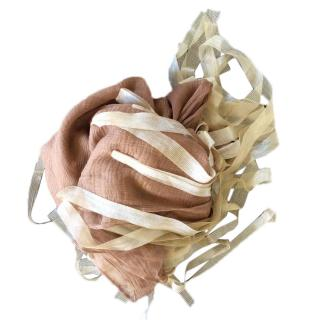 Giorgio Armani voile silk scarf with fringes