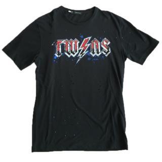 DSquared Black Twins Men's Tour Tshirt