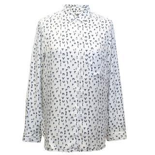 Maje White Letter Print Shirt