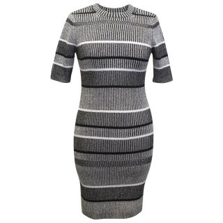 T By Alexander Wang Grey Knitted Dress