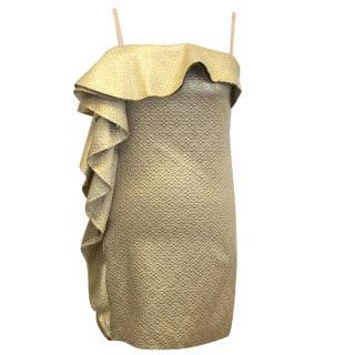 Lanvin gold long top