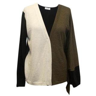 Vionnet Black, Brown and Cream Cardigan