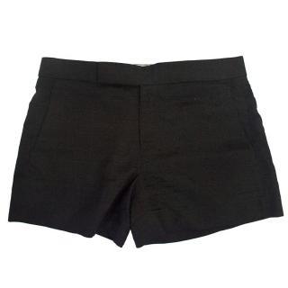 Holmes & Yang Black Linen Shorts