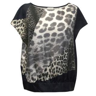 Dries Van Noten leopard silk t-shirt