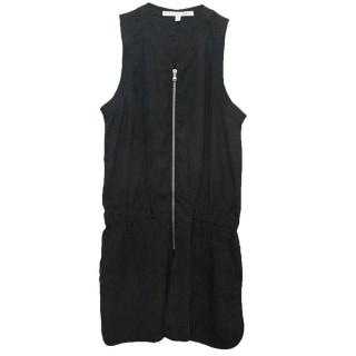 Veronica Beard Washed Out Black Playsuit