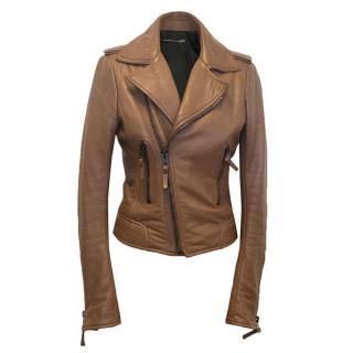 Balenciaga Tan Leather Jacket