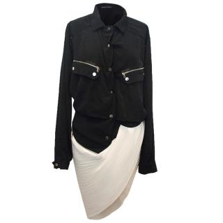 Anthony Vaccarello black and white dress