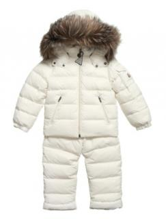 Moncler Ivory 'Mauger' Down Padded Kid's 2 Piece Snow Set