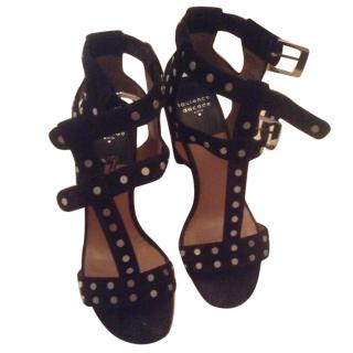 Laurence Dacade black suede sandals