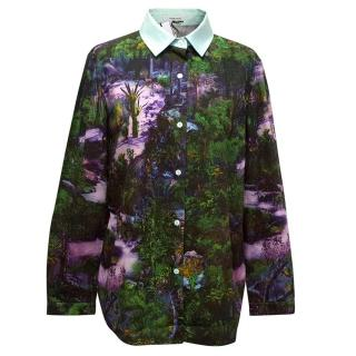 Carven purple print shirt
