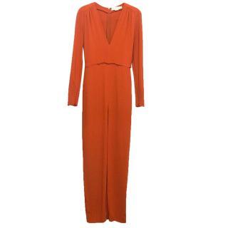 Stella McCartney long sleeved burnt orange jumpsuit