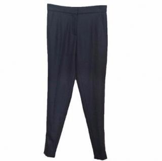 Stella McCartney Navy Wool Cigarette Pants