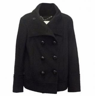 Celine Black Wool Double Breasted Coat