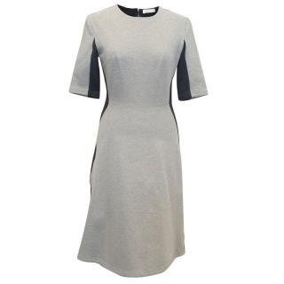 Richard Nicoll Navy and Grey Bodycon Dress