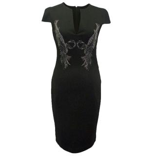 Just Cavalli black dress with emebellishment