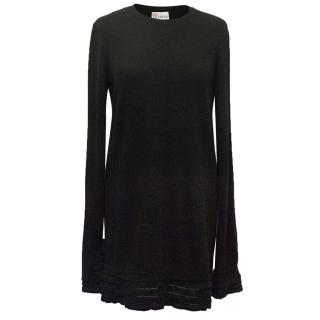 Red Valentino Black Sweater with Frills