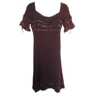Just cavalli maroon dress