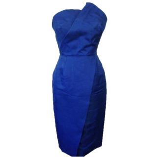 Victoria beckham silk dress No. 41 blue structured