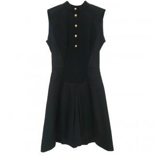 Victoria Beckham Dress No 200 Black - Wool & Silk Military Dress