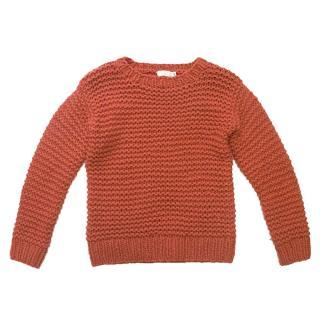 Stella McCartney Kids Orange Chunky Knit Jumper
