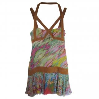 Jasmine Di Milo multi coloured silk dress