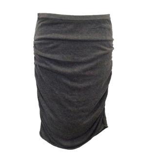 Donna Karan grey jersey skirt