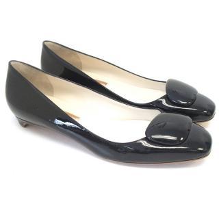 Rupert Sanderson Black Patent Leather Flats