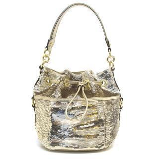 Coach Gold Sequin Shoulder Bag