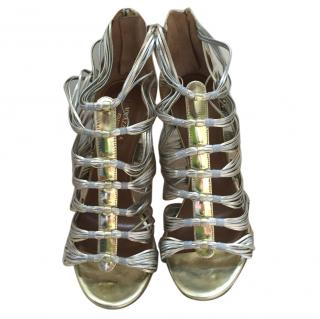 Aquazzura Gold Strappy Sandals