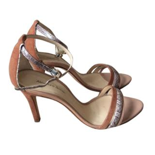 Alexandre Birman water snake and suede sandals
