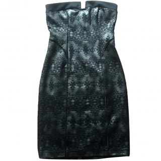 Armani Exchange strapless cocktail dress