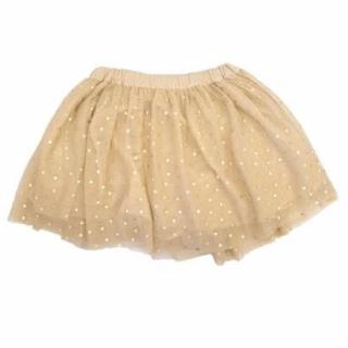Stella McCartney Girls Nude Tulle Heart Print Skirt