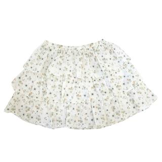 Marie Chantal Floral Ruffle Skirt