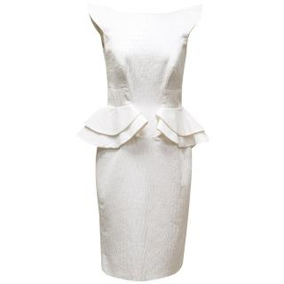 Phillip Armstrong White Peplum Dress