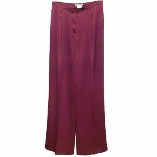 Emporio Armani Plum Wide Leg Trousers