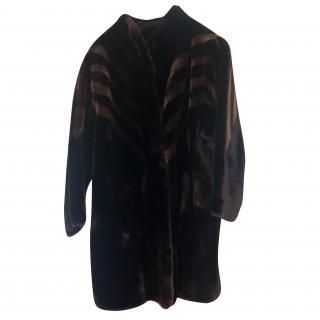 Sprung Freres  Beaver Lamb Coat