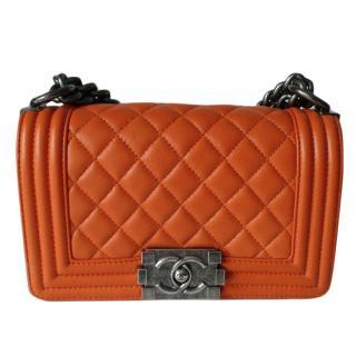 Chanel Orange Boy Bag