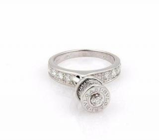 Bvlgari BZero Charm Ring Pave Diamonds 18CT White Gold