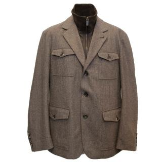 Men's Bally Wool Jacket & Attached Gilet