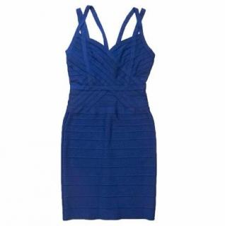 Herve Leger Cobalt Blue Bandage Dress