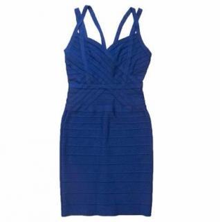 Herve Leger Cobalt Blue Bandage Dress