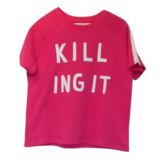 Zoe Karssen Pink Killing It Terry Cotton Sweat