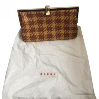 Marni leather woven ladies clutch purse